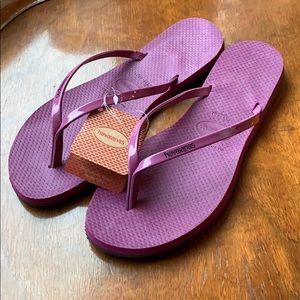 New Havaianas - purple - size 39/40